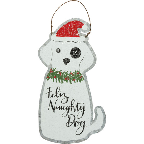 Feliz Naughty Dog Ornament