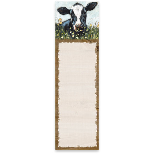 Black & White Cow List Pad