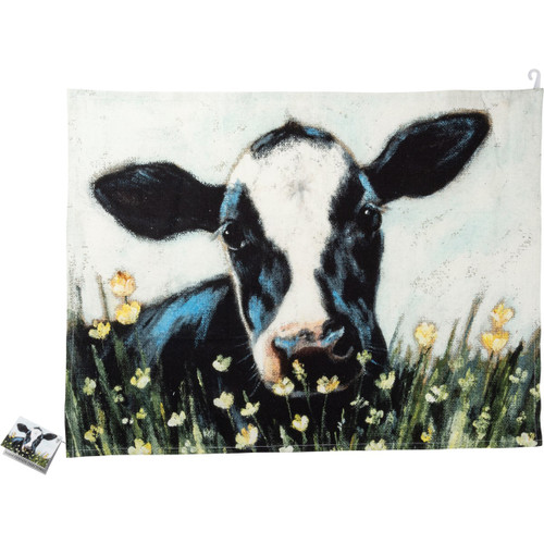 Black & White Cow Dish Towel