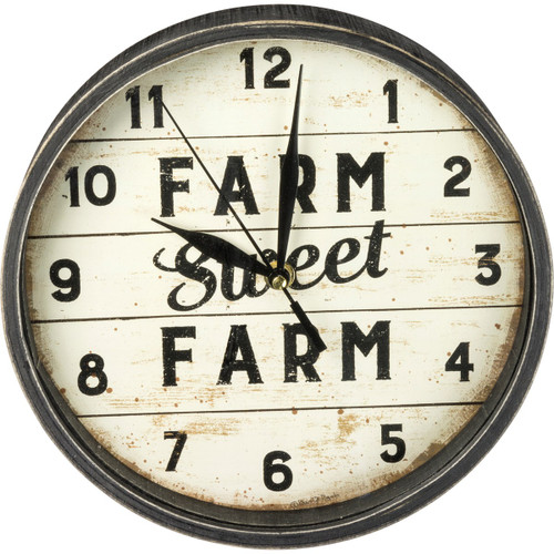 Farm Sweet Farm Wall Clock