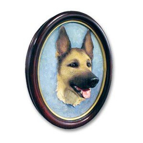 German Shepherd, Black & Tan Sculptured Portrait