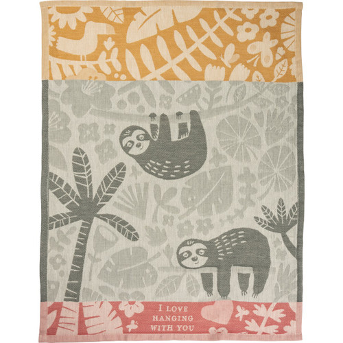 I Love Hanging With You...Sloth Dish Towel