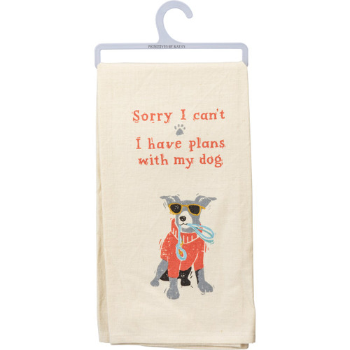 Plans With My Dog Dish Towel