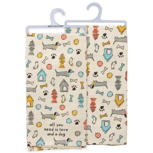 Dog Theme Dish Towel