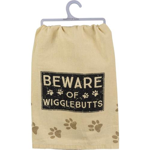 Beware of Wigglebutts Dish Towel