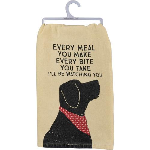 I'll Be Watching You...Dog Dish Towel