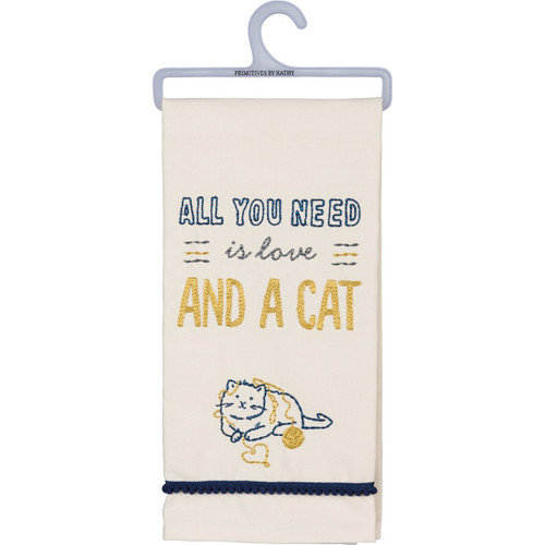 All You Need...Cat Dish Towel
