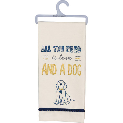 All You Need...Dog Dish Towel