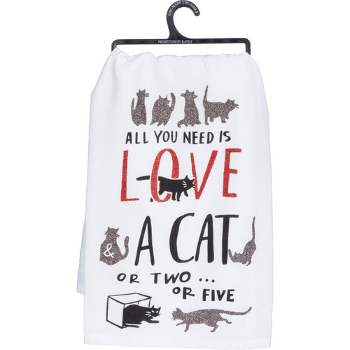 A Cat or Two or Five - Kitchen Towel