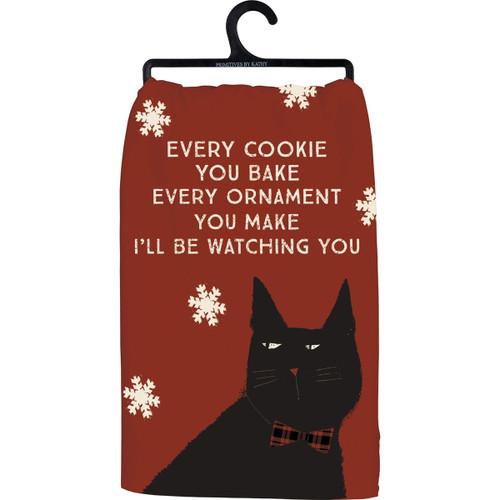 I'll Be Watching You...Cat Dish Towel