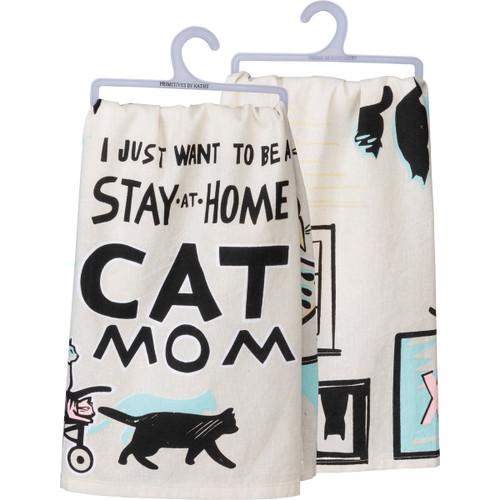 Cat Mom - Dish Towel