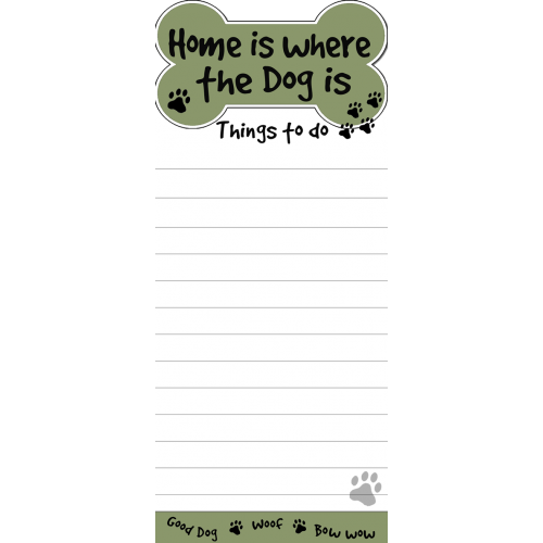 Home Is Where Dog Is List Pad