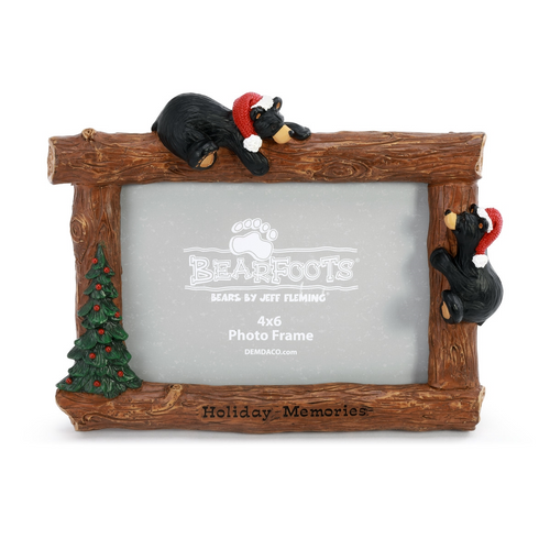 Black Bear Holiday Photo Frame
