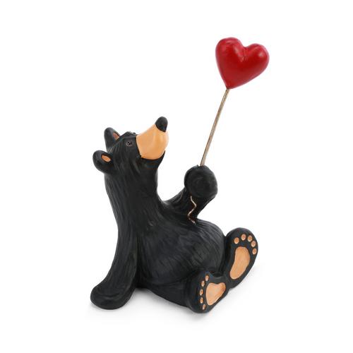 Mini Black Bear Love Figurine