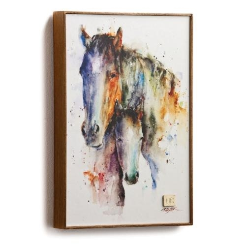 Mother's Love Horse Watercolor Painting