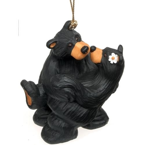 Black Bear Embrace Ornament