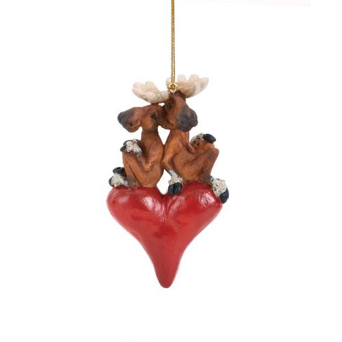 Moose Sweethearts Ornament