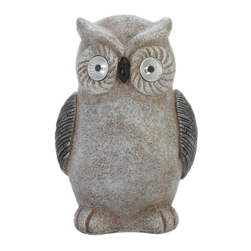 Solar LED Owl Statue