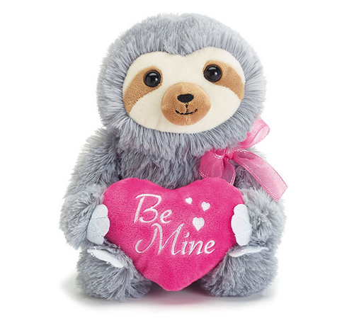 Be Mine Plush Sloth Valentine