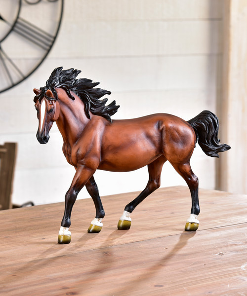 Bay Horse Figurine