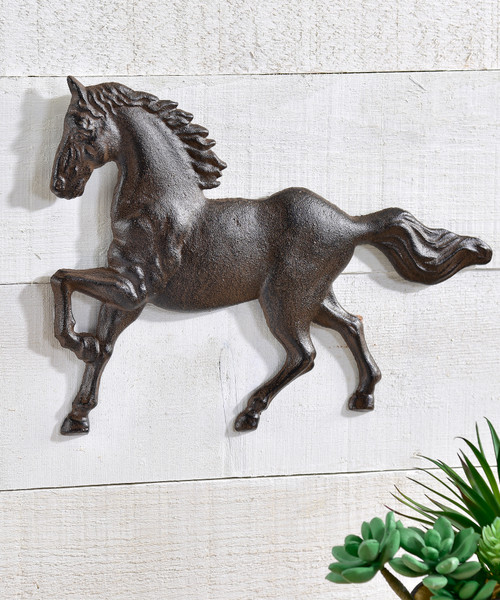 Cast Iron Horse Wall Decor