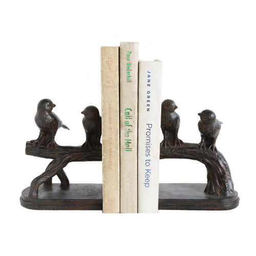 Birds On Branch Bookends