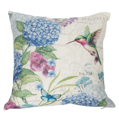 Hummingbird & Butterfly Accent Pillow
