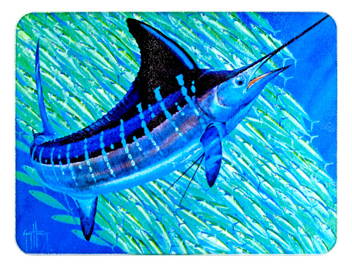 Blue Marlin Glass Cutting Board/Trivet