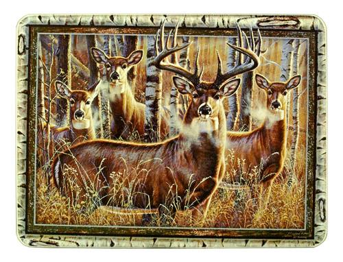 Deer In Forest Glass Cutting Board/Trivet