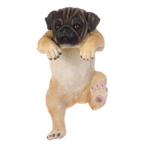 Climbing Pug Statue