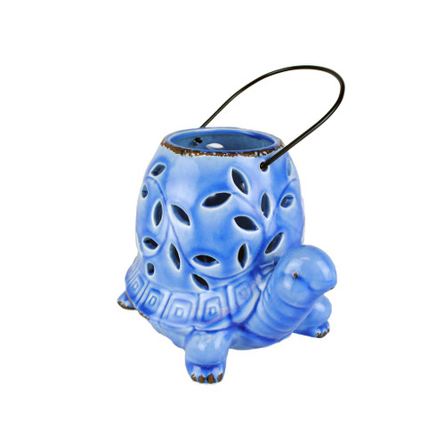 Blue Turtle Candle Lantern