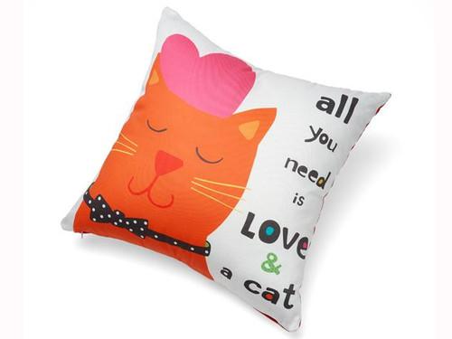 Love & a Cat Accent Pillow