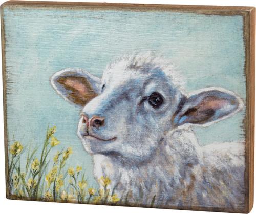White Sheep Box Sign
