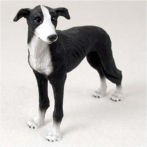 Greyhound, Black & White Figurine