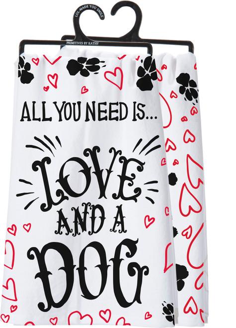 Love & a Dog Dish Towel