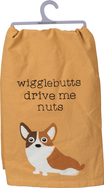 Wigglebutts Drive Me Nuts Dish Towel