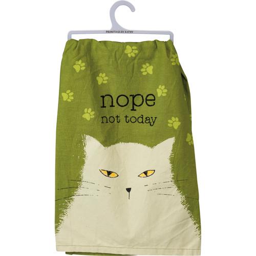 Nope Not Today Dish Towel