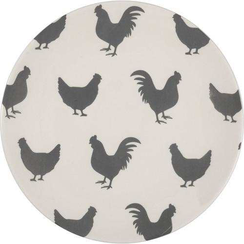 Rooster & Hen Design Plate