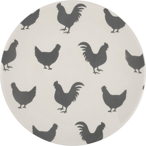 Rooster & Hen Design Plate
