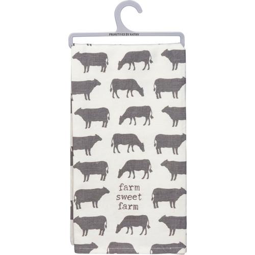 Cow Design Dish Towel