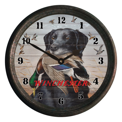 Black Lab Retriever Wall Clock