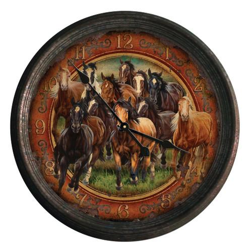 Herd of Horses Wall Clock