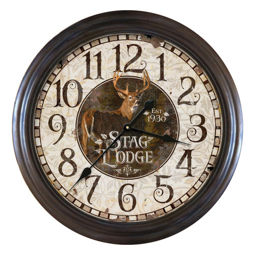 Stag Lodge Wall Clock