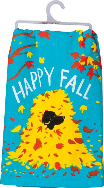 Happy Fall - Dog Dish Towel