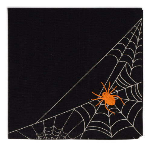 Spiderweb Embellished Napkin