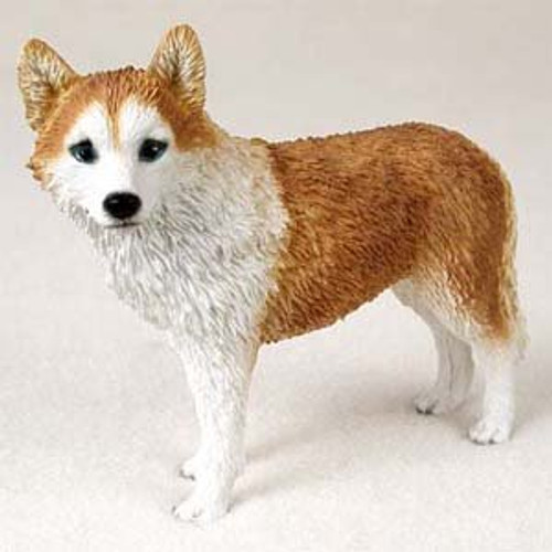 Husky, Red & White, Blue Eyes Figurine