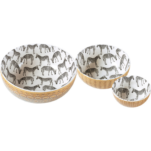 Zebra Bowl Set