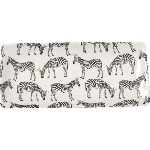 Zebra Rectangular Platter