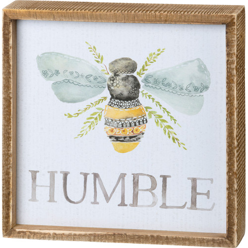 """Bee"" Humble Box Sign"