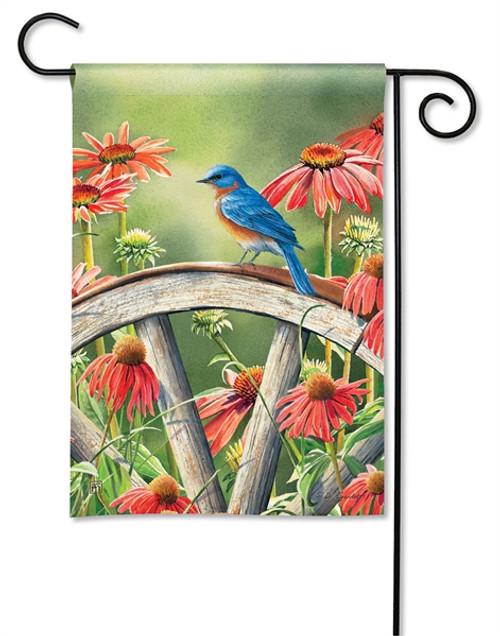 Bluebird Visit Garden Flag